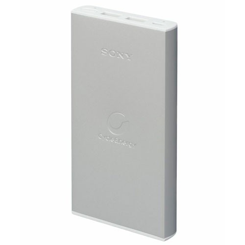 SONY Portable USB Charger 10000mAh [CP-F10L] - Silver - Portable Charger / Power Bank
